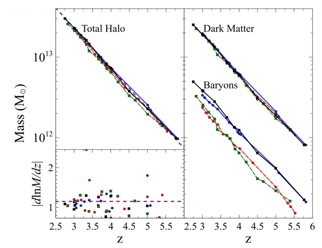 Evolución de la masa dentro del cúmulo de galaxias