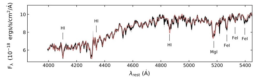 Línea negra con tendencia ligeramente ascendente que presenta frecuentes subidas y bajadas. Se marcan algunas bajadas especialmente intensas. Una línea roja muy similar se superpone a la negra.